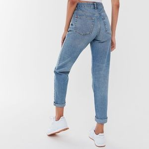 UO BDG High-Waisted Light Wash Mom Jeans